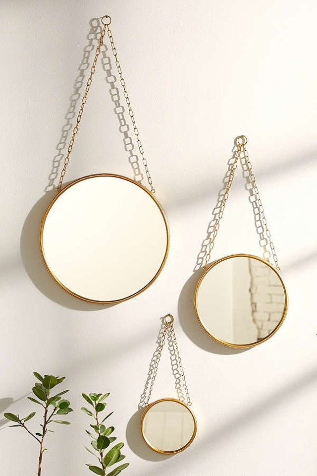 Urban Outfitters round mirrors.