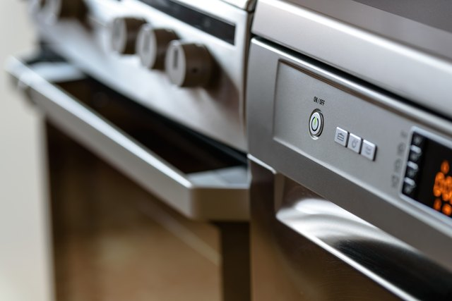 close up oven photo