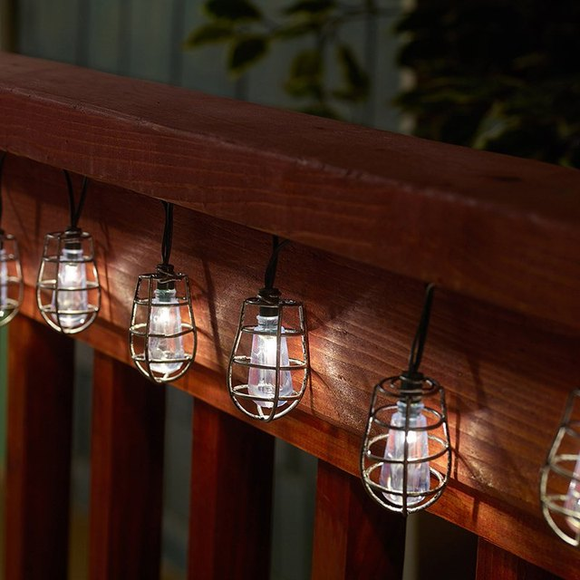 gershon lantern string lights outdoor solar power