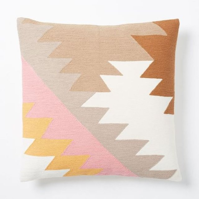West Elm Embroidered Pillow