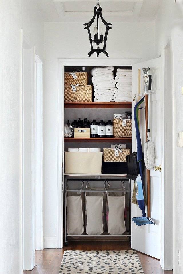 These 10 Items Can (Finally) Organize Your Linen Closet | Hunker