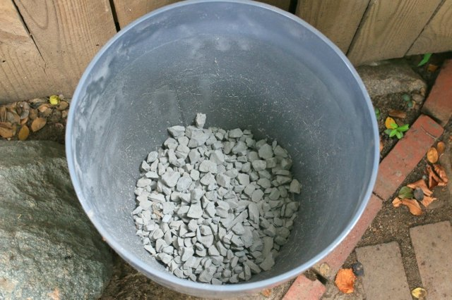 Drainage rock for potted plants