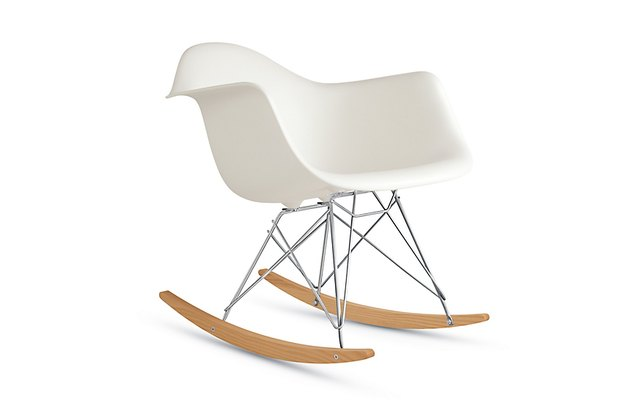 Eames molded plastic rocking chair