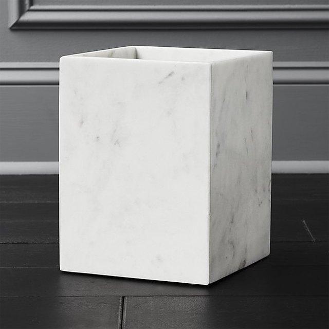 marble waste bin