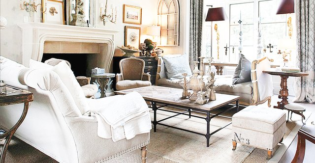 antiques french country living room