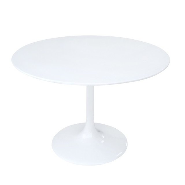 White mid-century dining table
