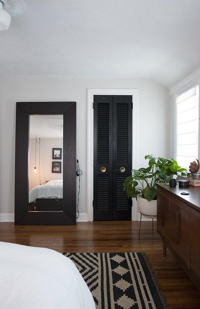 Black closet doors
