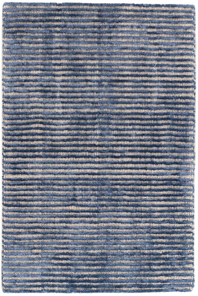 Denim colored woven wool rug