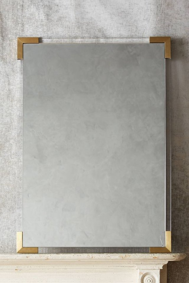 Brass Capped Mirror
