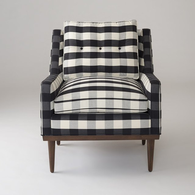 Black and white plaid chair