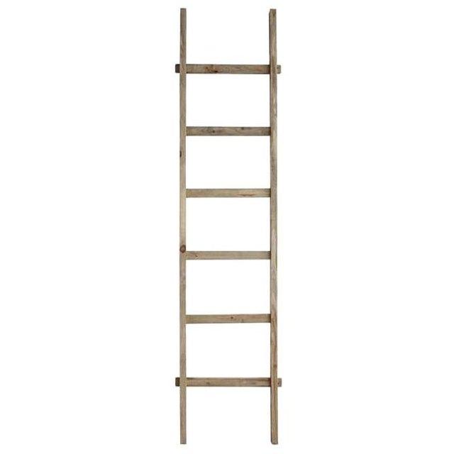 Decorative natural wood ladder