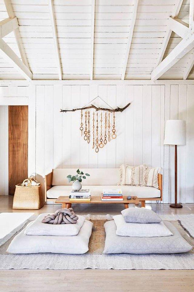minimalist boho living room