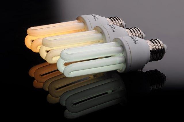CFL lighting bulbs.