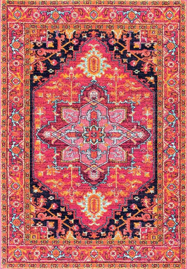 Rugs USA pink and orange rug.