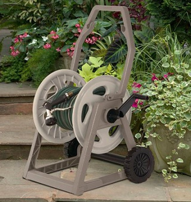Portable garden hose reel.