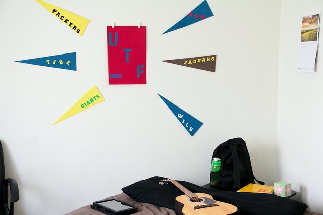 How To Hang A College Flag In My Dorm Hunker