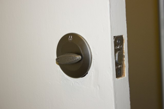 How To Remove A Deadbolt Lock Without Screws Hunker