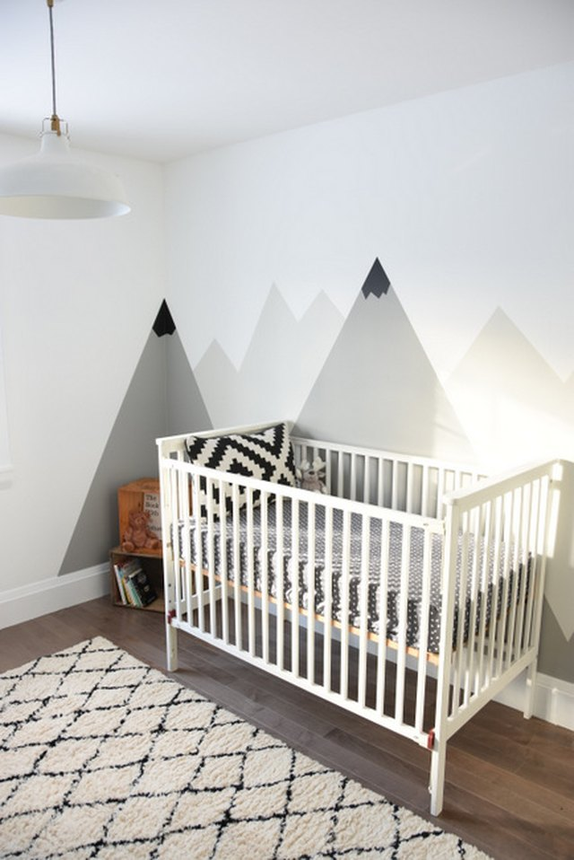 mountain mural nursery diy