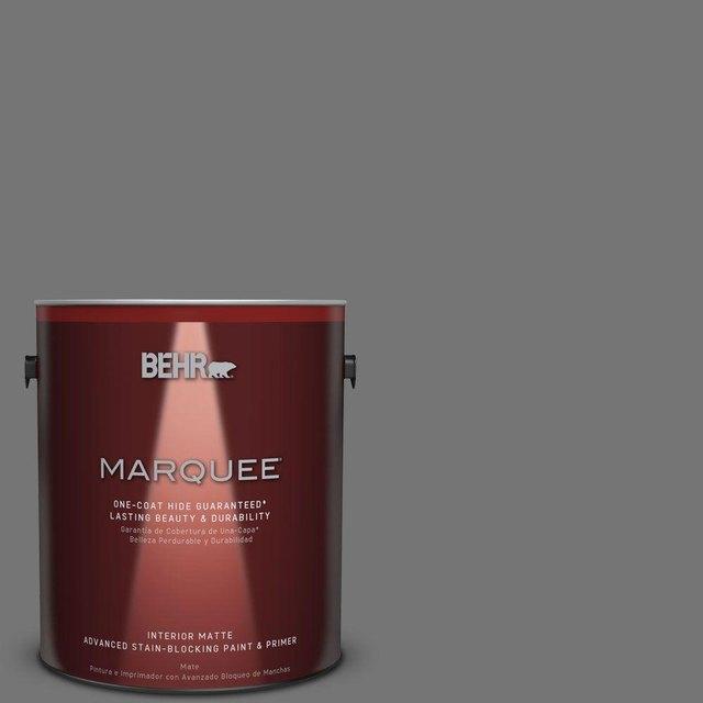 Dark gray matte wall paint