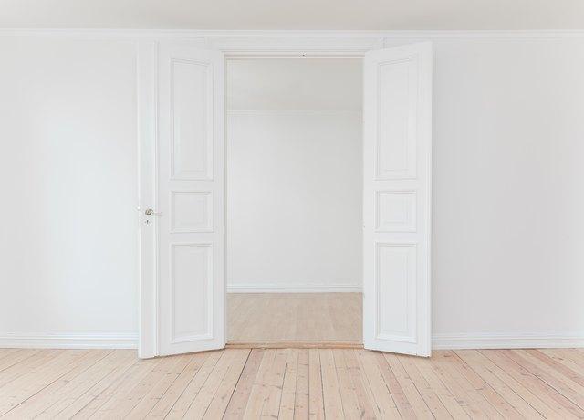 Brand new hardwood floor.