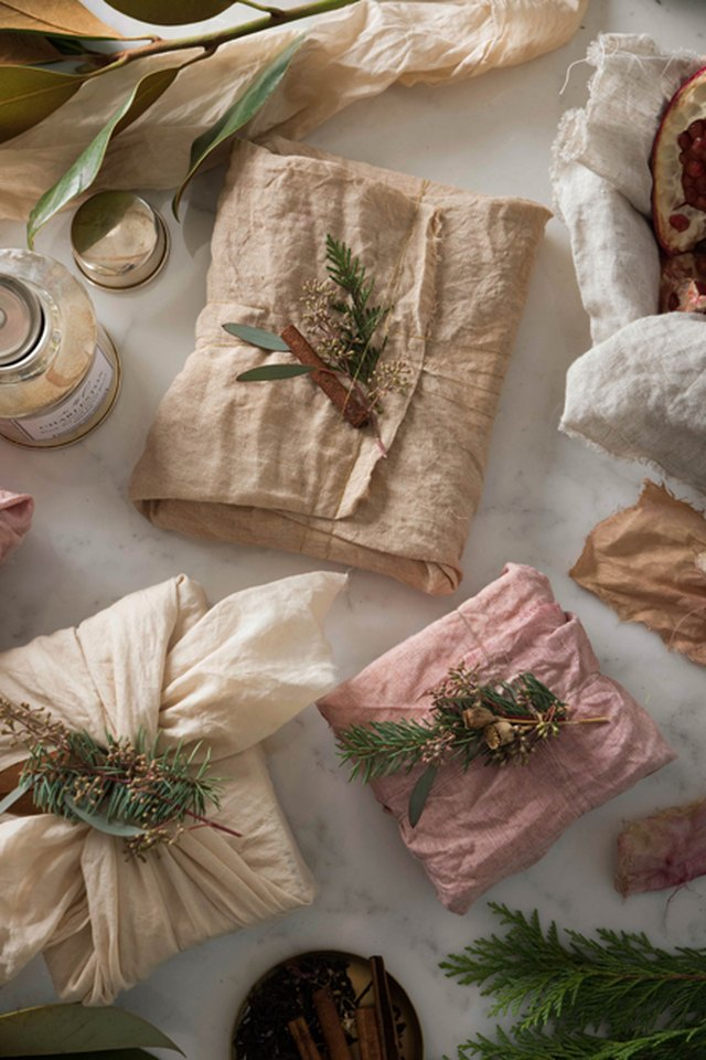 cloth wrapped gift