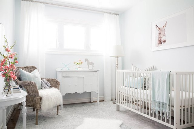 soft pale blue walls nursery
