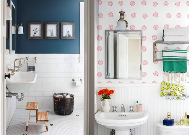 13 Clever Ways to Decorate Your Bathroom Walls | Hunker on how to decoratea small bathroom, how decorate pink bathroom, how to clean bathroom, soap dispenser bathroom, diy bathroom, art deco style bathroom, how to paint bathroom, how to remodel bathroom, ways to decorate your bathroom, decoration bathroom, home bathroom, color schemes bathroom, how decorate bathroom walls, design bathroom, how to draw bathroom, decorating bathroom, wall art bathroom, how to build bathroom, decor bathroom, how to organize bathroom,