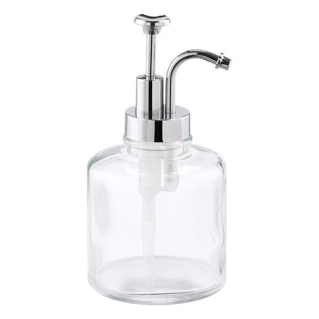 glass soap pump