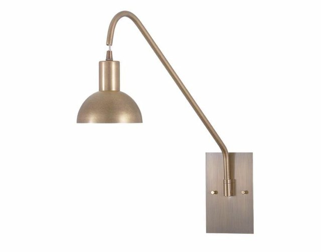 Brushed gold sconce with long neck