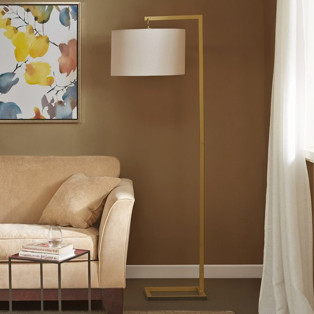 gold finish lamp