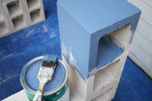The paint will seal the concrete blocks.