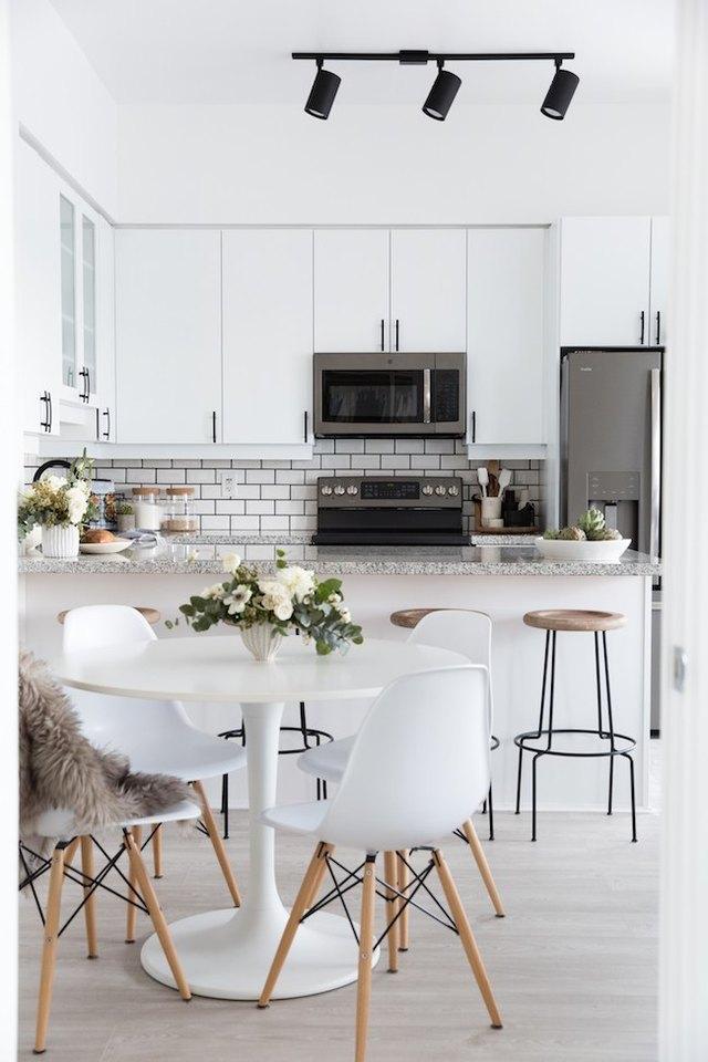 modern kitchen dining area