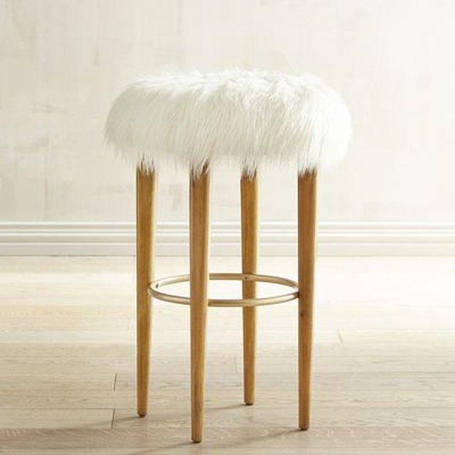 Kate Faux Fur Bar Stool