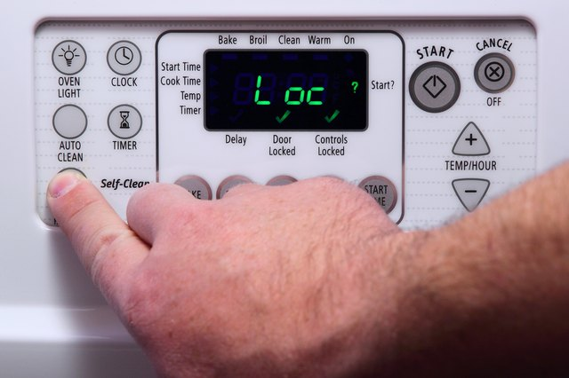 how to unlock a kenmore self cleaning oven hunker