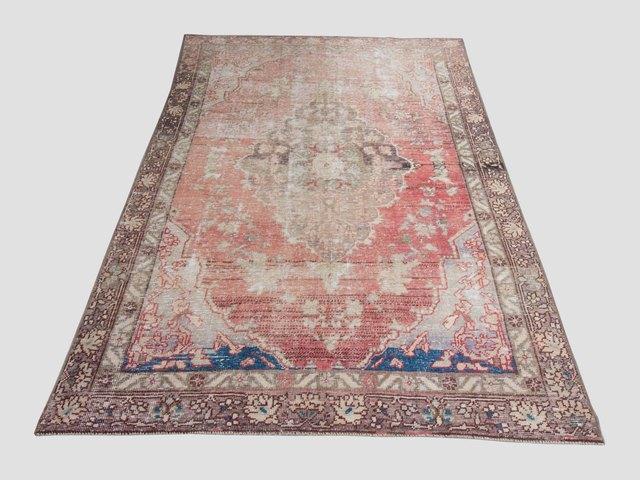 Vintage rose variegated area rug