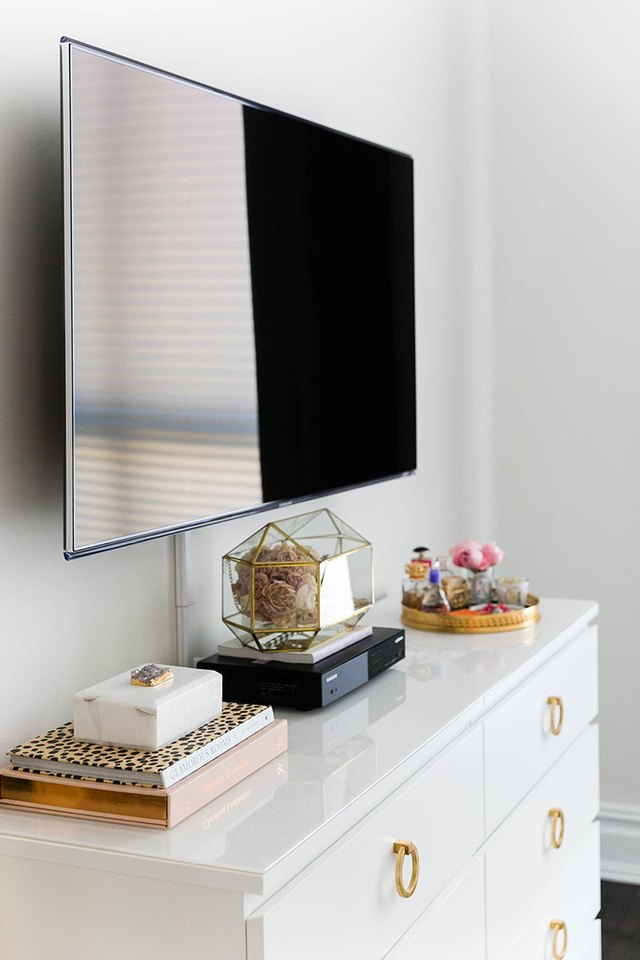 wall-mounted television