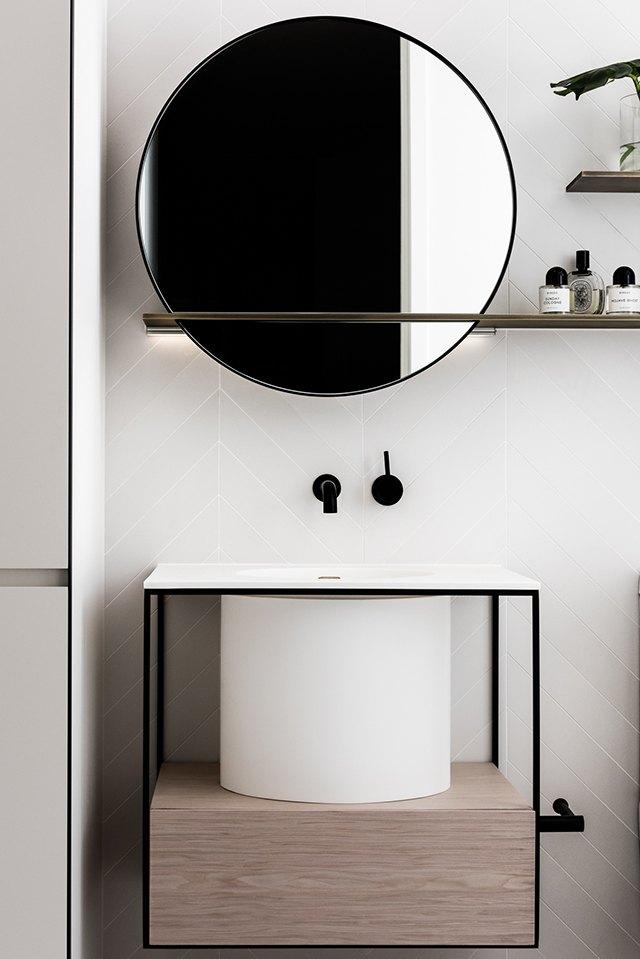 round bathroom vanity mirror