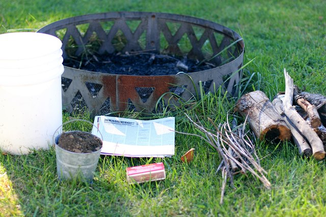 How to Start a Fire in a Fire Pit   Hunker