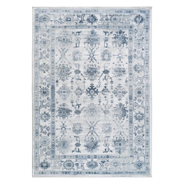 Blue and gray area rug