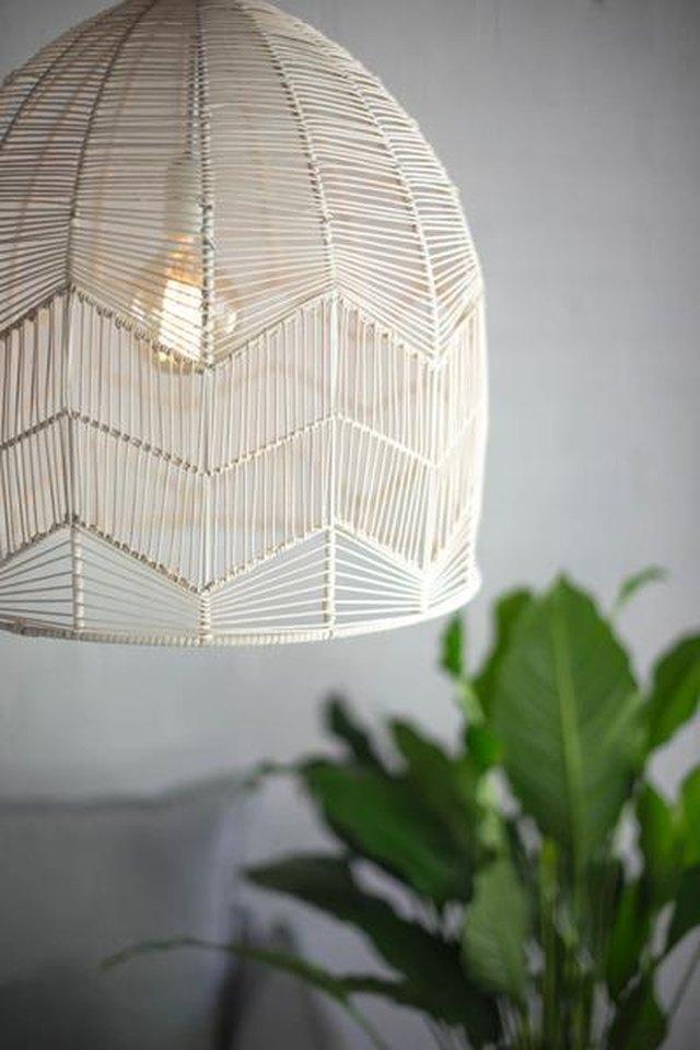 white rattan pendant lamp