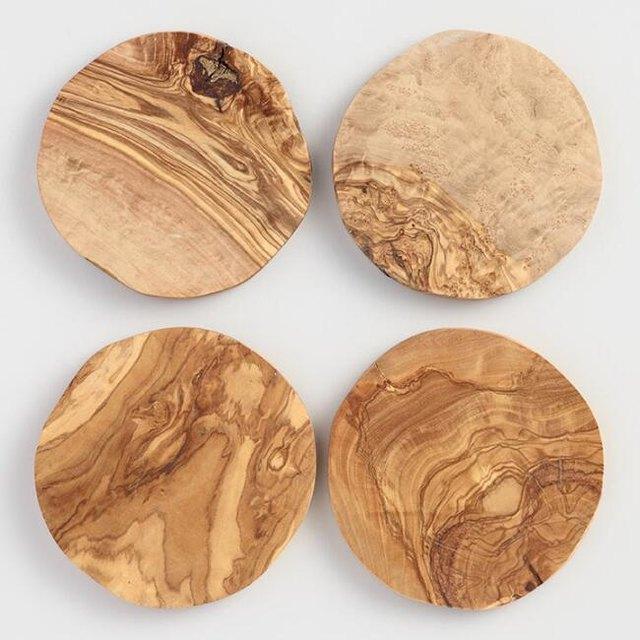 olivewood coasters
