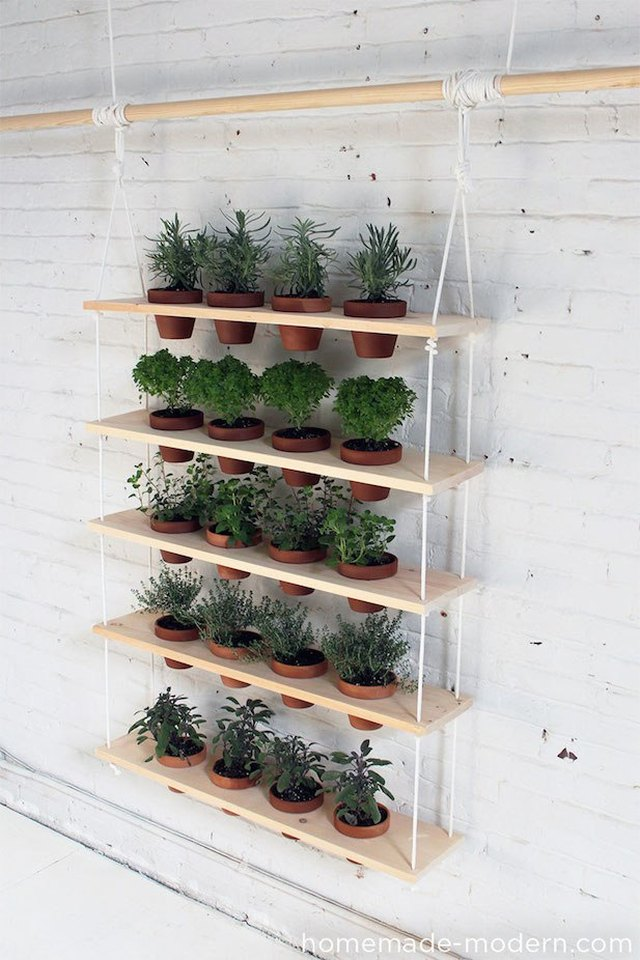 hanging shelves vertical garden