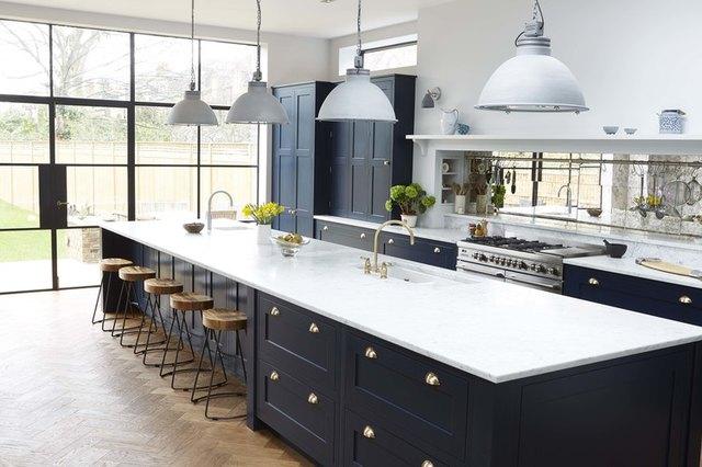 long kitchen island modern farmhouse