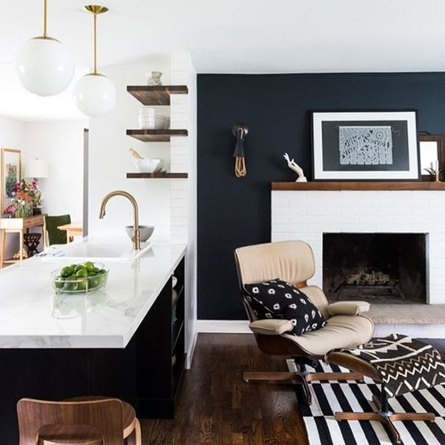 modern style home with vintage midcentury accents