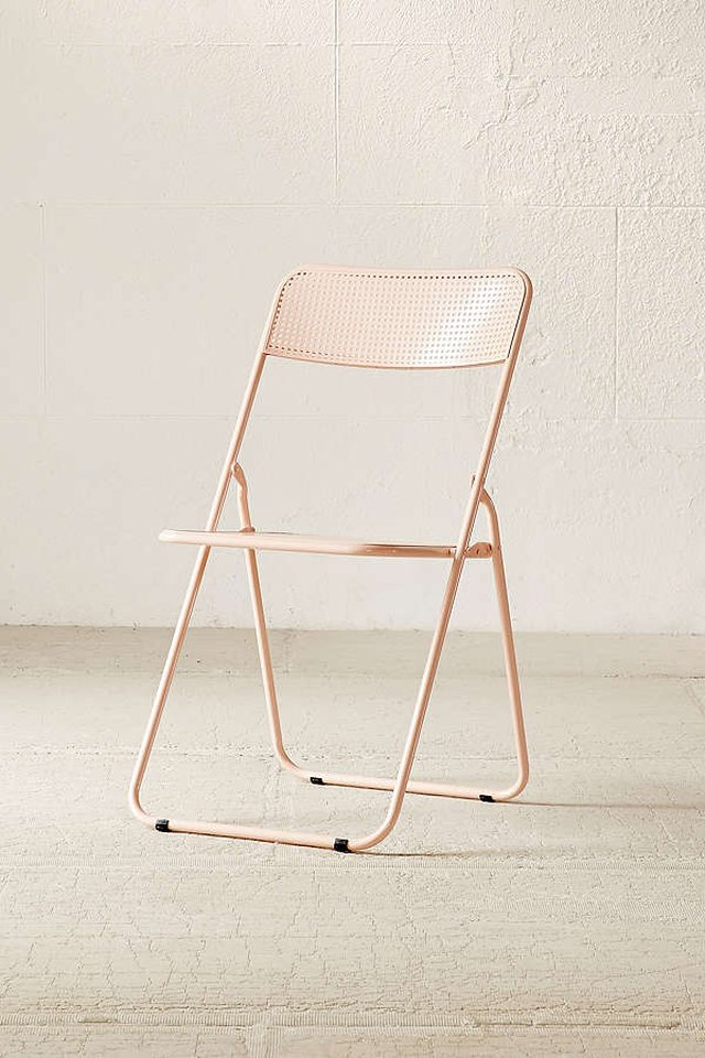 Pink folding chair