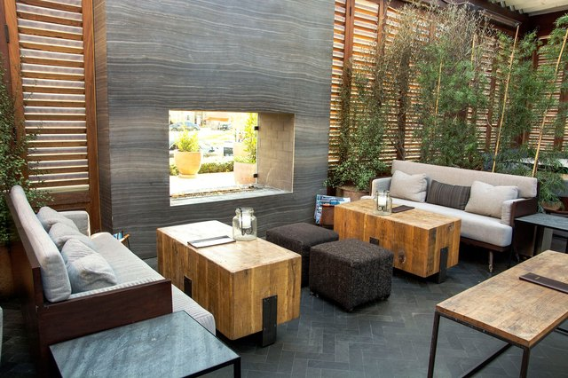 Couches and tables on the patio