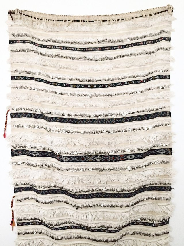 Black and white striped textural throw blanket