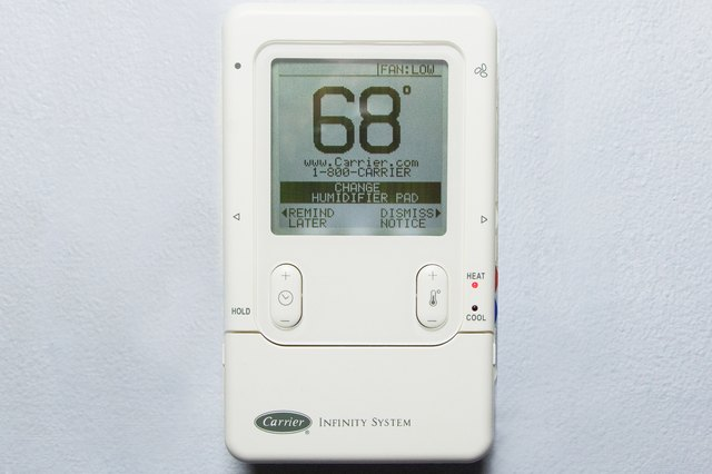 how to reset a carrier infinity system thermostat hunker rh hunker com Hard Reset Nest Thermostat Honeywell Thermostat Troubleshooting