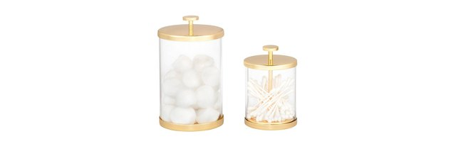 Gold Glass Canister