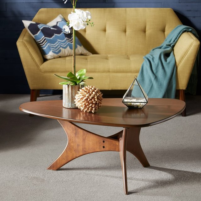 small tripod frame midcentury coffee table